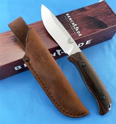 Benchmade Hunt 15001-2 Saddle Mountain Skinner Knife Dymondwood S30V 1st Run