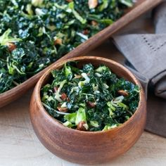 Kale salad with Brussels sprouts
