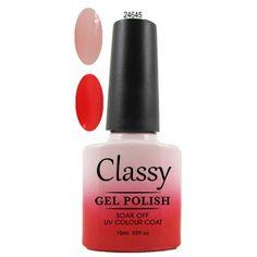 Colour Change 24645 Gel Polish Colors, Gel Color, Nail Colors, Nail Polish, Colour, Classy Nails, Uv Gel, Shellac, Color Change
