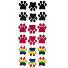 Paw+Print+Mini+Car+Magnets+-+Set+of+6+at+The+Animal+Rescue+Site