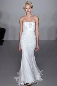 dresses - strapless tencel & satin sheath