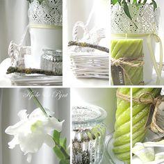 vert anis et fleurs