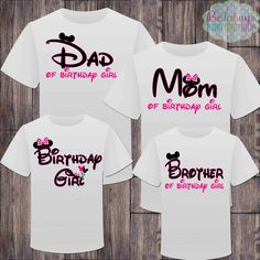 Matching Disney Family Girl Birthday Tshirts - Mickey Minnie Mouse Birthday Girl - Disney Inspired - Matching Birthday Shirts - Minnie Mouse by BellabugsBaby on Etsy