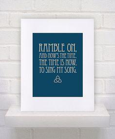 Ramble On - Led Zeppelin Lyrics