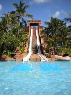 *Mayan WaterSlide At Atlantis, Paradise Island, Bahamas  This was almost as crazy as the leap of faith slide on the opposite side of this slide