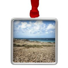Aruba Rocky Ocean View Christmas Ornaments    •   This design is available on t-shirts, hats, mugs, buttons, key chains and much more    •   Please check out our others designs and products at www.zazzle.com/zzl_322881145212327*