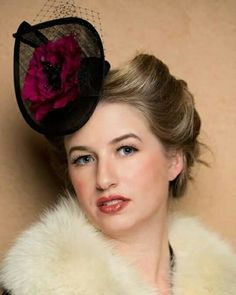 Percher hat of black sinamay with silk binding and a hand formed silk poppy. www.liftedmillinery.com Races Fashion, Couture, Silk, Fascinators, Photo And Video, My Favorite Things, Photography, Image, Beauty