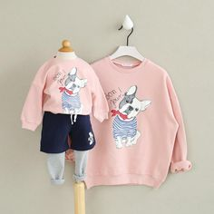 2 pieces/lot Family look clothing 2017 Summer spring children in new kids parent sweater matching mother daughter clothes online shopping mall, buying fashion dresses & rapid delivery. Start your amazing deals with big discounts! Girls Sweater Dress, Girls Sweaters, Dog Sweaters, Mother Daughter Outfits, Mother Son, Baby Girl Leggings, Matching Family Outfits, Matching Clothes, Baby Girl Winter