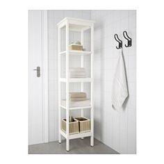 IKEA - HEMNES, Regal, weiß, , Mit offenen Ablagen - so ist alles schnell griffbereit.
