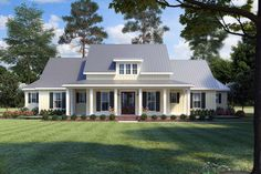 Find your dream modern-farmhouse style house plan such as Plan which is a 2435 sq ft, 3 bed, 2 bath home with 2 garage stalls from Monster House Plans. Modern Farmhouse Plans, Farmhouse Design, Farmhouse Style, Rustic Style, Farmhouse Decor, Southern Farmhouse, Farmhouse Interior, Farmhouse Ideas, Country Style