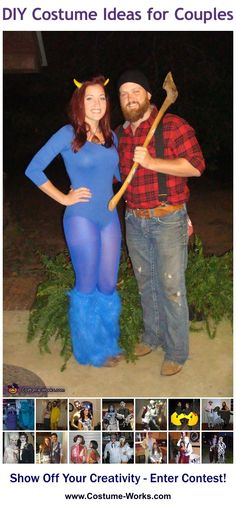 Homemade Costumes for Couples - tons of DIY costume ideas!  Omg when JP gets home from Afghanistan...this will be happening next Halloween!!
