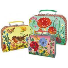 Storage suitcase - flowers - Vilac