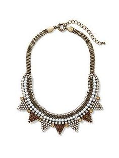 Sabine Crystal Statement Necklace | Piperlime