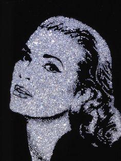 West Collection : Vik Muniz Grace Kelly - made from diamonds