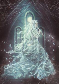 Fantasy, Beautiful and dreams Dark Fantasy Art, Fantasy Kunst, Fantasy World, Dark Art, Dark Gothic Art, Dark Creatures, Mythical Creatures, Arte Horror, Horror Art