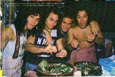 Van Halen, post food fight
