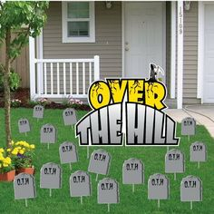 Birthday Yard Cards - Over The Hill Greetings w/Tombstones