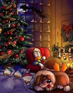 Image shared by Elena. Find images and videos about disney, christmas night and christmas on We Heart It - the app to get lost in what you love. Mickey Christmas, Christmas Cartoons, Christmas Scenes, Christmas Love, Christmas Pictures, Winter Christmas, Xmas, Donald Duck Christmas, Merry Christmas