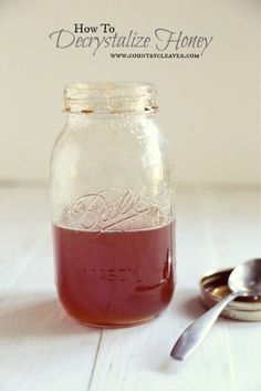How to Decrystalize Honey - www.countrycleaver. That honey hasn't gone bad, keep it fresh with these steps!