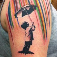 raining colors tattoo