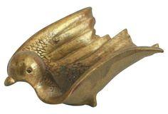 Mid-Century Modern Brass Bird  Dish