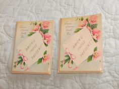 Vintage Old New Stock Pink Party Invitations just listed March 28 2013 at FourSistersInACottage.com