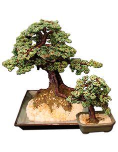 Glass Beaded Juniper Tree