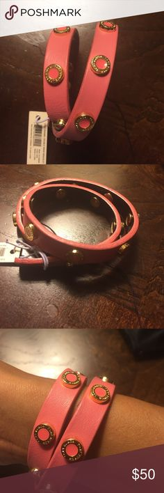 Tory Burch Wrap Bracelet Tory Burch Wrap bracelet. NWT. Includes Tory Burch jewelry bag. Gold hardware. Excellent condition. Trades ✅Price Firm Tory Burch Jewelry Bracelets