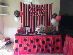 My daughters Ladybug Birthday Party! Mickey Birthday, 2nd Birthday Parties, Baby Birthday, Ladybug 1st Birthdays, First Birthdays, Miraculous Ladybug Party, Ladybug Crafts, Butterfly Party, Holidays And Events