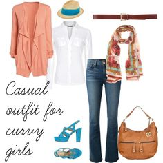 "Day 3 ""Casual outfit for curvy girls"" by miscanthus on Polyvore"
