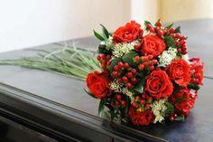 Brautstrauß Rosen rot