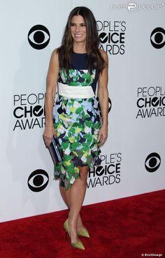 Sandra Bullock en Peter Pilotto aux People's Choice Awards, Los Angeles, le 9 janvier 2014.