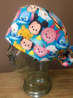 Emoji Cartoon Surgical Scrub Hat on Blue, Women's Disney Character Pixie Scrub Hat, Custom Caps Company ~ Limited Amount Available by CustomCapsCompany on Etsy
