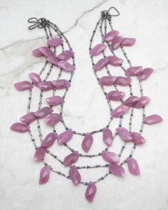 Statement Necklace.Multi Strand Necklace.Fringe Necklace.Boho Necklace.Bohemian…