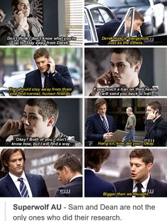 How this cross over would go. Stiles would save everyone! Teen Wolf Quotes, Teen Wolf Funny, Teen Wolf Memes, Teen Wolf Boys, Teen Tv, Teen Wolf Dylan, Supernatural Crossover, Supernatural Destiel, Teen Wolf Ships