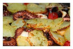 Polpo morbidissimo al forno con patate