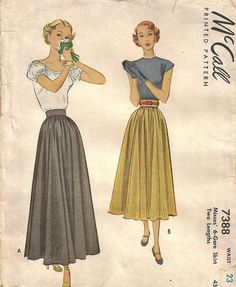 McCall 7388 Vintage 40s Sewing Pattern Forties by studioGpatterns, $12.50