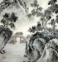 You Should Experience Chinese Landscape Drawing At Least Chinese Landscape Painting, Korean Painting, Landscape Drawings, Japanese Painting, Chinese Painting, Landscape Art, Japanese Art, Landscape Paintings, Landscape Quilts