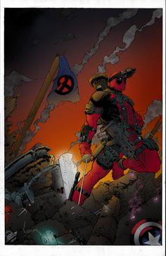 Deadpool - line art: sketch515, color: Scott Lewis