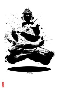 Emek Buddha Poster 18 x 24