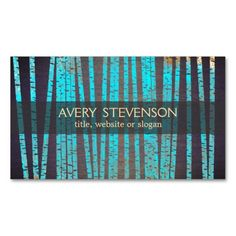 Turquoise Blue Bamboo Nature Health Spa Wood Business Card. I love this design! It is available for customization or ready to buy as is. All you need is to add your business info to this template then place the order. It will ship within 24 hours. Just click the image to make your own!