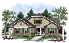 House Plan 73413 | Country   Craftsman    Plan with 1508 Sq. Ft., 2 Bedrooms, 2 Bathrooms, 3 Car Garage