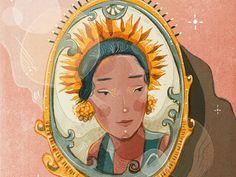 Indonesian Beauty by Aisyah Vasthy People Illustration, Portrait Illustration, Indonesian Art, Plant Art, Weird Art, Art Drawings Sketches, Art Reference, Watercolor Art, Design Art