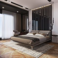 Bedroom design is vital. When you're focusing on your bedroom design, you will notice there are lots of decorative elements that go into it. The all white bedroom design provides the room such a big and bright appearance that's best… Continue Reading → Grey Bedroom Decor, Luxury Bedroom Furniture, Luxury Bedroom Design, Luxury Home Decor, Luxury Interior, Modern Interior Design, Luxury Homes, Bedroom Designs, Bedroom Ideas
