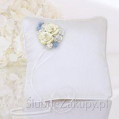 PODUSZKA pod obrączki Coś niebieskiego #slub #wesele #sklepslubny #slubnezakupy #dekoracje