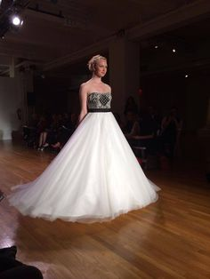 Strapless color block wedding dress #AngeloAccess
