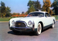 "1952 Chrysler Ghia SS ""Styling Special"" Short wheelbase Fast Back 1 of 1 in original white?, car was repainted for US show circuit."