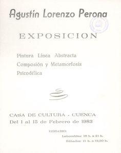 Exposición del conquense Agustín Lorenzo Perona en la Casa de Cultura de Cuenca Febrero 1983 #CasaCulturaCuenca #AgustinLorenzoPerona