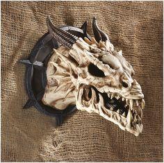 Horned Dragon Skull Mounted