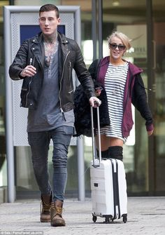 United front: Jeremy McConnell and Stephanie Davis certainly didn't look like they were in...